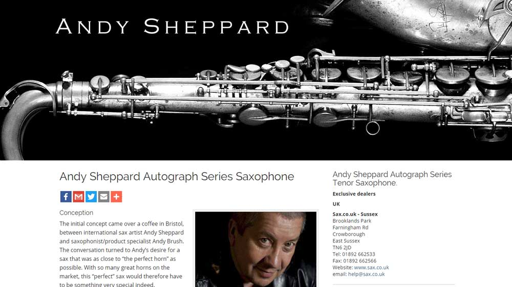 Andy Sheppard is one of the UK's top Jazz Musicians.