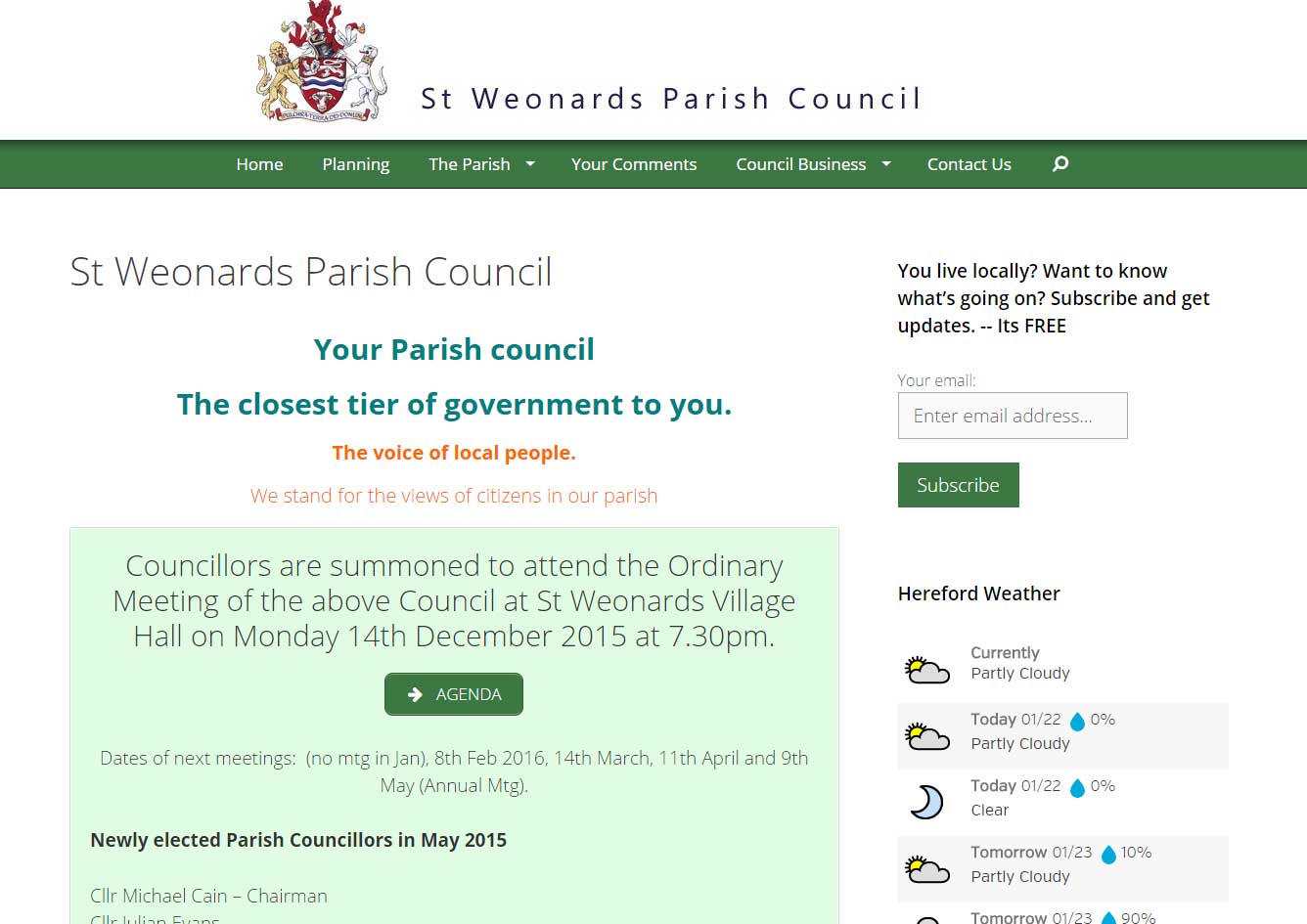 St Weonards Parish Council