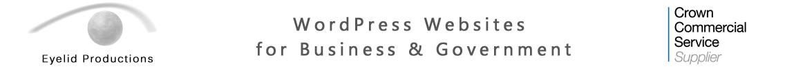 Eyelid Productions WordPress Websites